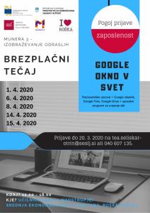 Brezplačni računalniški tečaj Google okno v svet